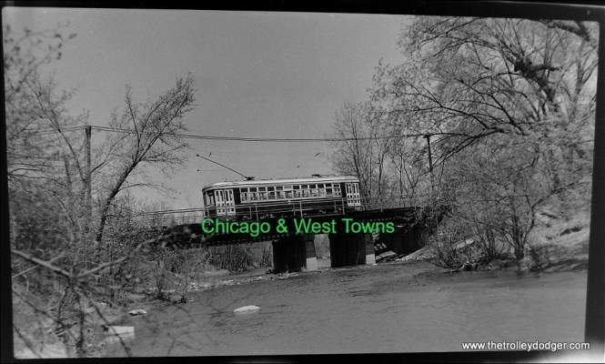 The Chicago & West Towns had a line to LaGrange that included some private right-of-way through the Forest Preserves. I assume this is the bridge over the DesPlaines River.