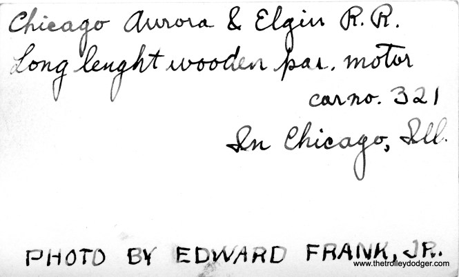 The back of the preceding photo, hand inscribed by Edward Frank, Jr.