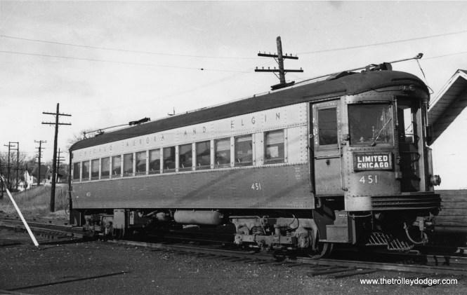 CA&E 451. (Railway Negative Exchange Photo)