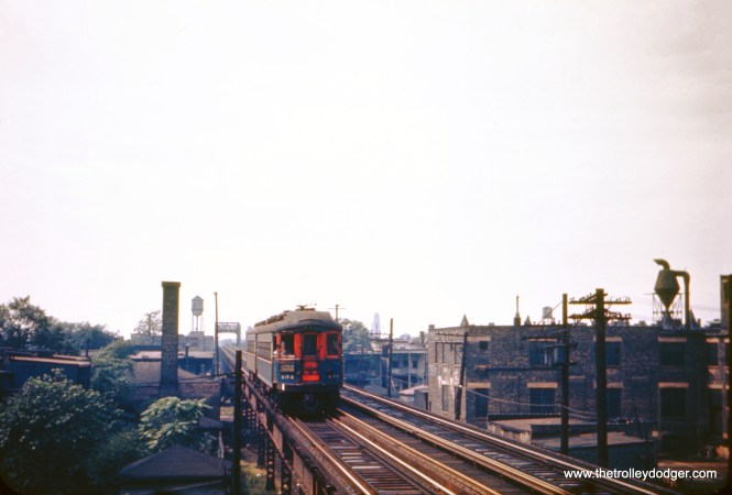 CA&E 434 heads up an eastbound Chicago Express at Western Avenue in September 1948.