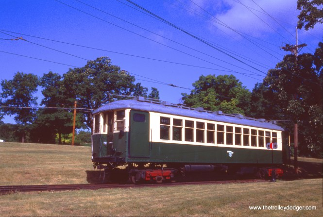CTA 4451 at the Fox River Trolley Museum on June 20, 1992.