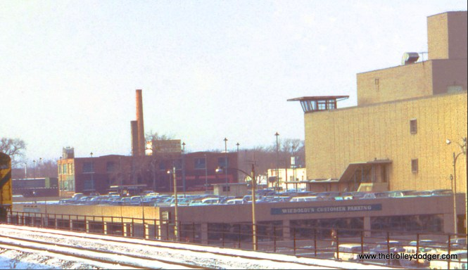 A close-up of the previous photo. This shows part of the former Wieboldt's department store in River Forest, which opened in the 1930s. There was a double-decker parking garage, complete with control tower (which I assume was hardly ever used) and if you parked on the upper level, there was a second floor entrance that let you in near the Boy Scouts department. In the back, you can see the type of warehouse building that was prevalent in this area. Both buildings have been torn down and replaced with a more contemporary shopping center. Emerson Wakefield Sr., my grandfather, worked as an electrician for Wieboldt's during the 1930s.