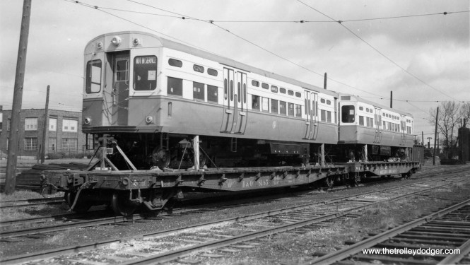 In the mid-1950s, some new 6000s are being delivered to 63rd Street Lower Yard.