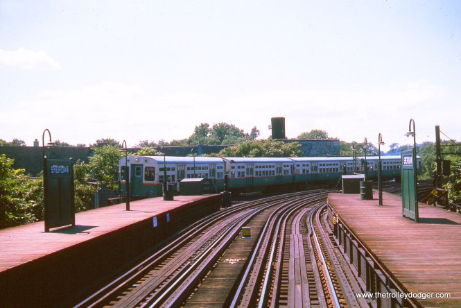 The Sheridan Road CTA station in August 1963. It still looks much like this today.