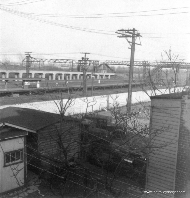 The view from the roof of the house at 4201 S. Oakenwald. In the distance, you can see the 43rd Street station of the Illinois Central Electric commuter trains. (Courtesy of Ross Harano)