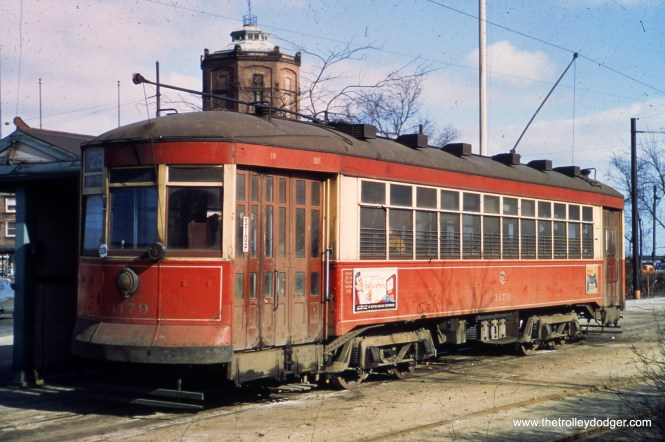 CTA 3179 at Grand and Navy Pier in March 1950.