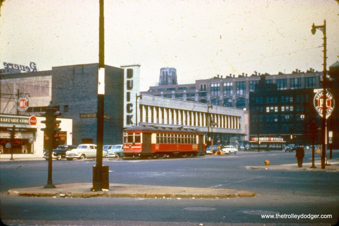 CTA 1752 at Cottage Grove and Cermak on September 8, 1951.