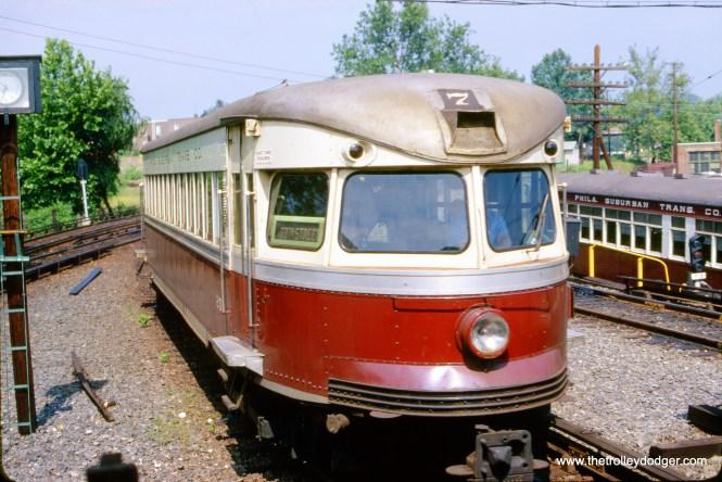 Red Arrow (Philadelphia Suburban Transportation Company) Bullet car 207 at 69th Street on June 7, 1964.