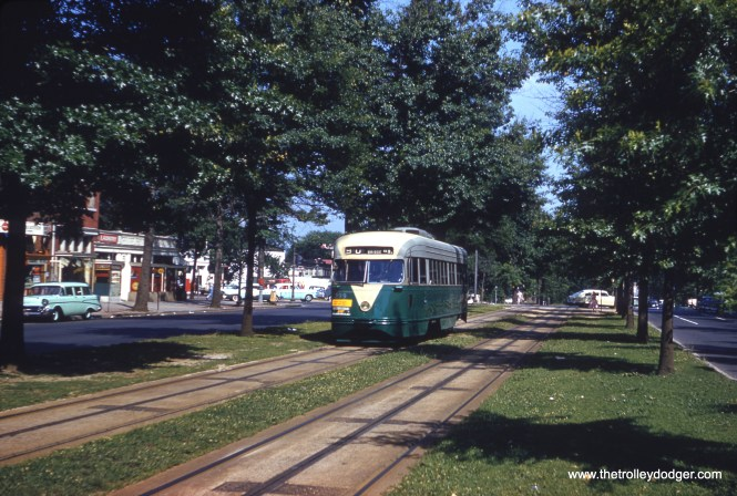 DC Transit 1399 on Route 90, at Pennsylvania Avenue SE, on June 7, 1959. (Clark Frazier Photo)