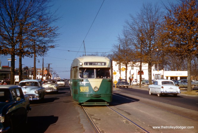 DC Transit 1572 on Route 70 at Georgia and Alaska on February 7, 1959. (Clark Frazier Photo)