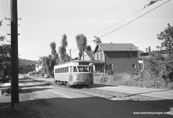 Altoona & Logan Valley 72 at an unknown location.