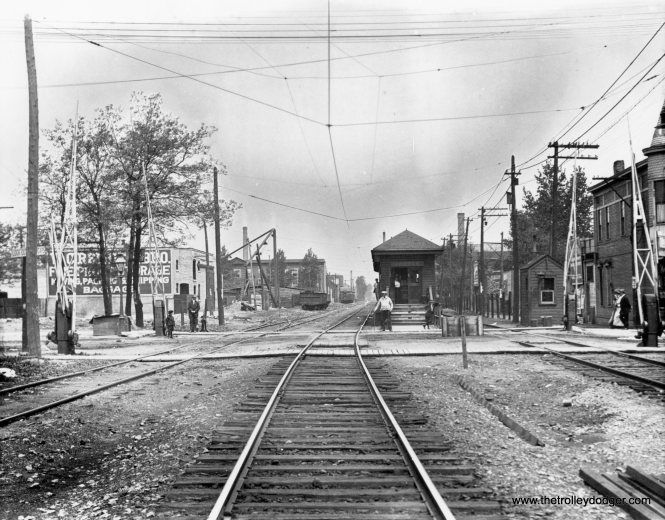 """A 1908 view of the Argyle station on the Northwestern """"L"""", shortly after service was extended between Uptown and Evanston at ground level. The """"L"""" took over tracks belonging to the Milwaukee Road via a lease arrangement. By 1915, the """"L' was gradually being elevated here onto a new embankment, which is now itself in the process of being rebuilt after a century of use. (Chicago Transit Authority Historical Collection)"""