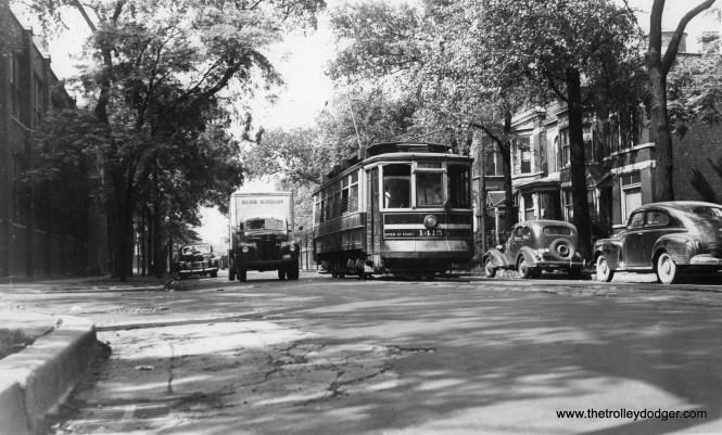 CSL 1415 is on Racine at Belden on July 9, 1946.