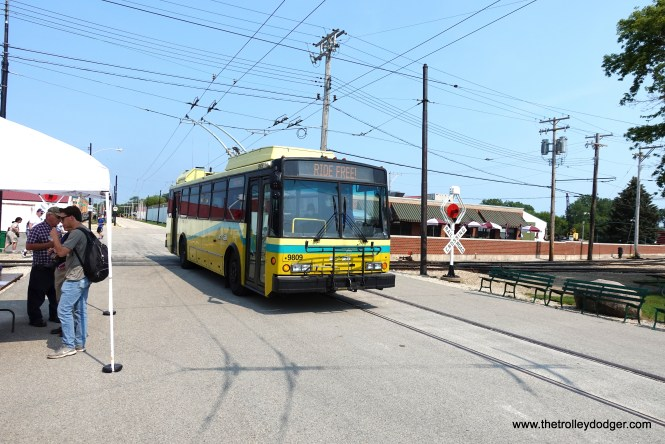 Dayton trolley bus 9809 joined the IRM fleet in 2020.