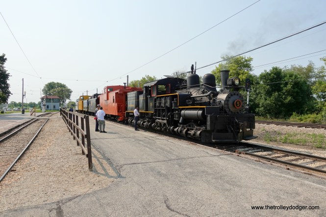 Neils No. 5 was one of two steam engines being used that day.