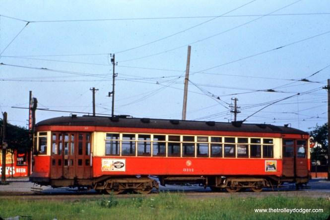 CTA 3191 at Stony Island and 93rd on July 11, 1951.