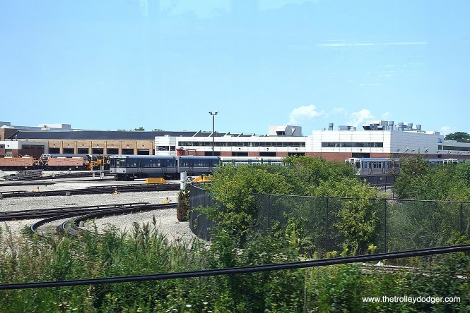 Skokie Shops. You can see 6711-6712 and 6101-6102, part of CTA's Historic Fleet.