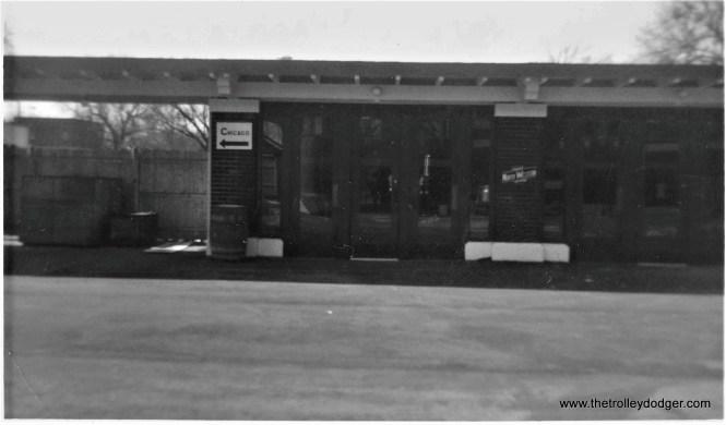 NSL Kenosha Station, waiting room on the southbound platform, April 5, 1972. (Larry Sakar Photo)