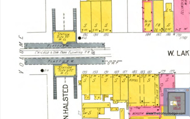 A close-up of the Halsted