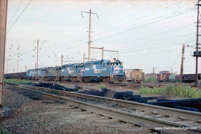 Conrail Pope's Creek coal train waiting to leave CR's Bayview Yard, Baltimore