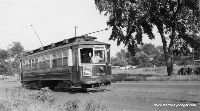 CSL 2821, signed to go to 115th and Halsted. (William Shapotkin Collection)