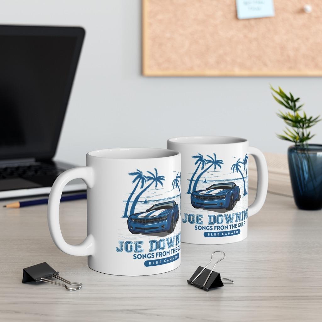 Joe Downing Blue Camaro Ceramic Mug 11oz, The Troprock Shop