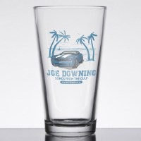 Joe Downing Blue Camaro Pint Glass