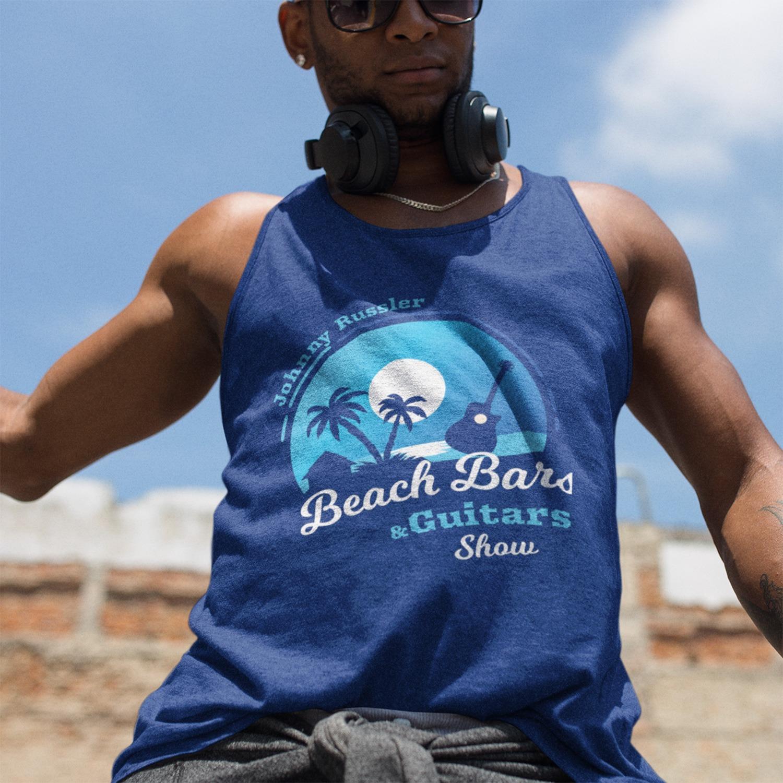 Beach Bars and Guitars Show Logo Men's Tank Top, The Troprock Shop