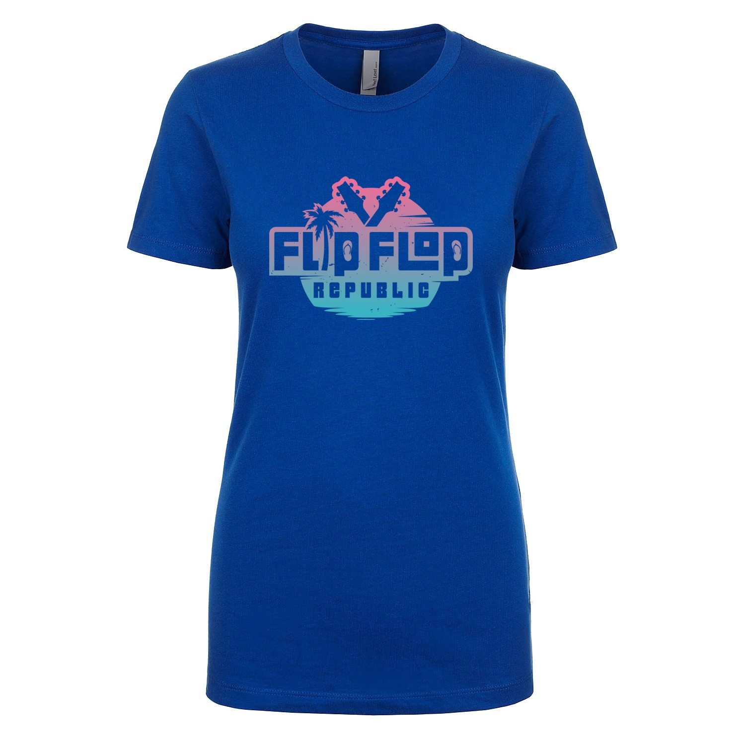 Flip Flop Republic Miami Vice Women's Fitted Tee, The Troprock Shop