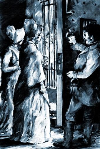 Elizabeth Fry visiting prisoners