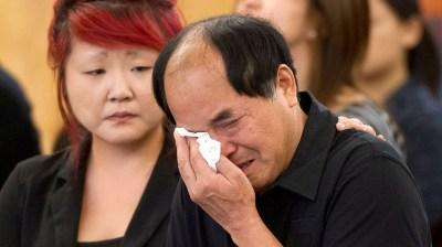 Diran Lin and Translator in court