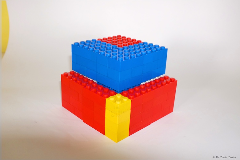 How to build a trinomial cube out of lego   The Troutbeck School lego trinomial cube building b layer