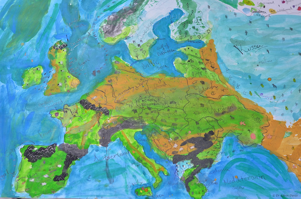 Designing A Physical Map Of Europe