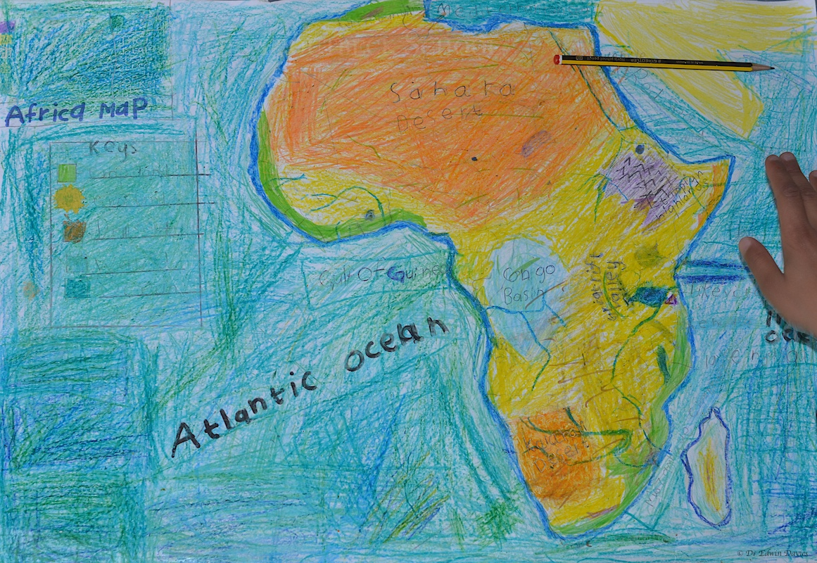 Drawing A Physical Map Of Africa