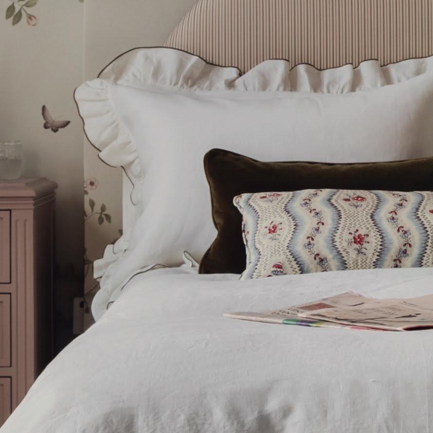 ruffle pillow slip