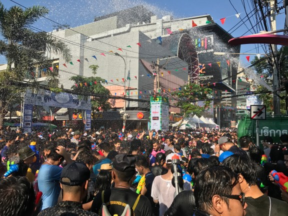 Songkran in Bangkok - Thai New Year.