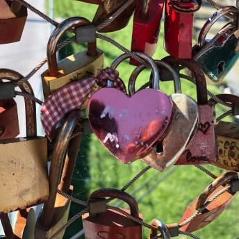 Locks on Love Lock Bridge