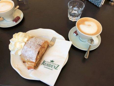 Cafe Residenz -Schonbrunn Palace.