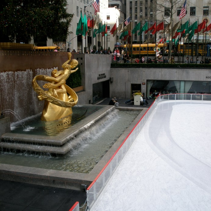 Ice skating rockefeller centre