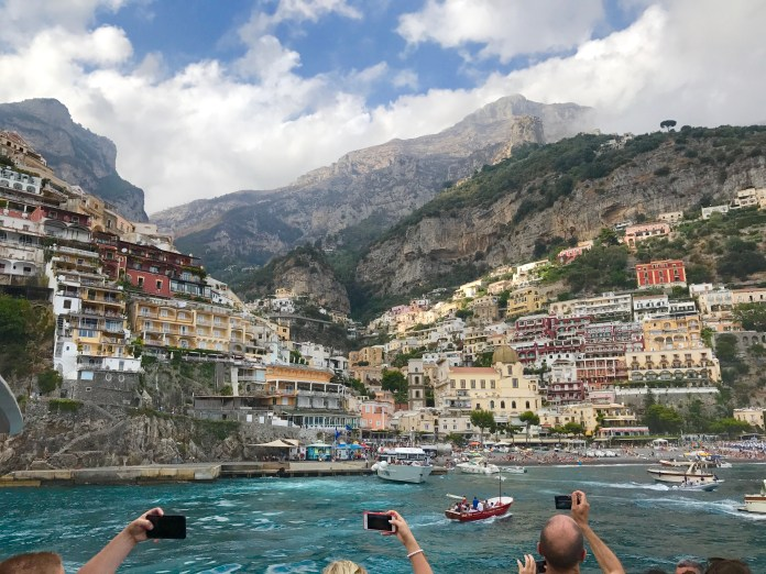 Positano view from ferry