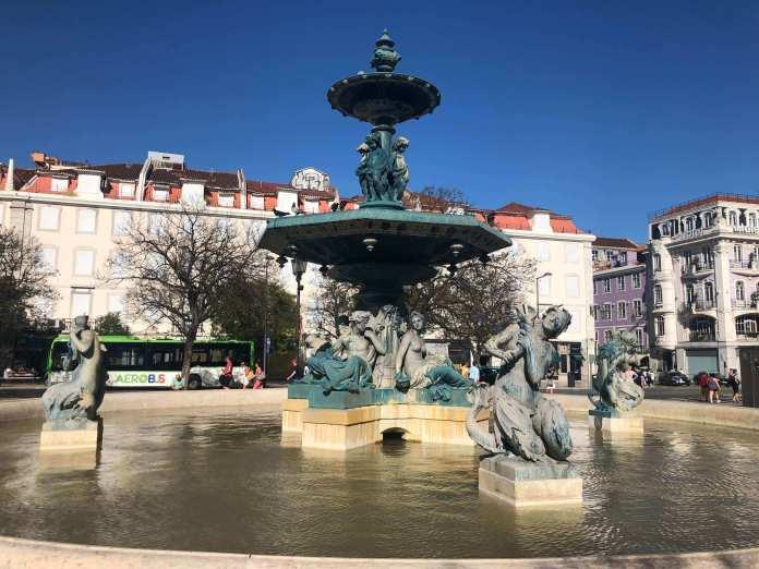 Fountain Rossio Square