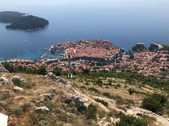 Cable Car - Dubrovnik - Best of Croatia in 10 days.