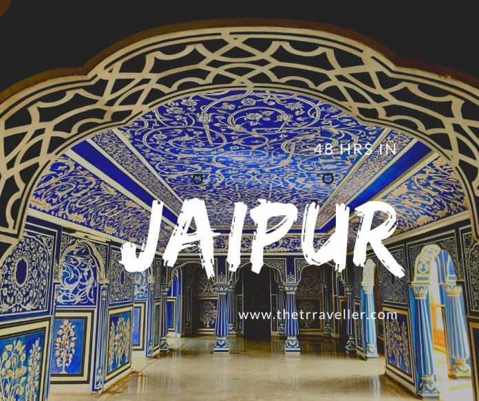 Jaipur in 48 hrs- Blue room City Palace.