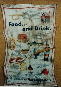 Image of tea towel found with body of Nation River Lady