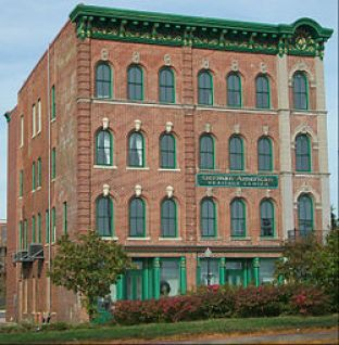 Photo of the former Standard Hotel, now the German American Heritage Center