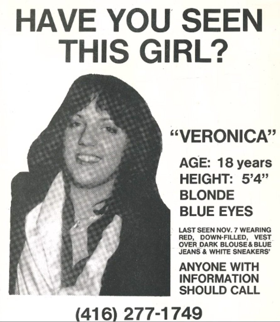 Veronica Kaye missing person poster