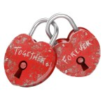 two padlocks as concept for eternal love