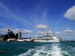 Cruise Ship moored in Auckland Harbour