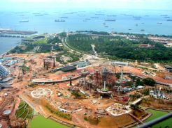Gardens by the Bay, under construction in 2010