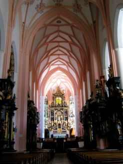 Inside St Michael's Church in Mondsee